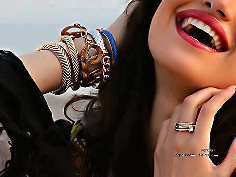 Smiley Girl with Bangles