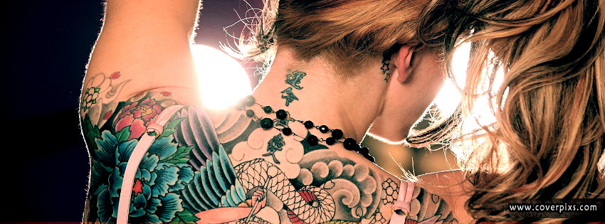 beautiful back tattoose girls facebook profile pictures