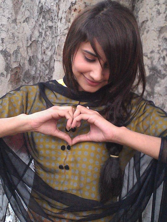 girls facbook DP,s with heart