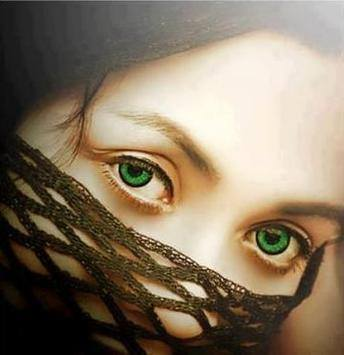 green cat eyes girl profile pic