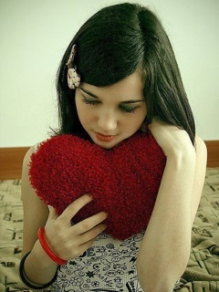 Girl with Heart Profile Picture