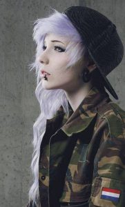 cute girls facebook profile pictures in a army dress