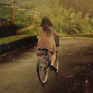 stylish and awesome girls profile pictures for facebook on cycle