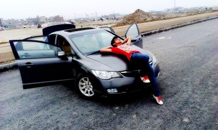 stylish boys Facebook profile pictures with car