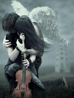 Sad Angels Couple Facebook Profile Photo
