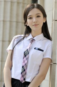 cute girl in uniform Facebook DPs