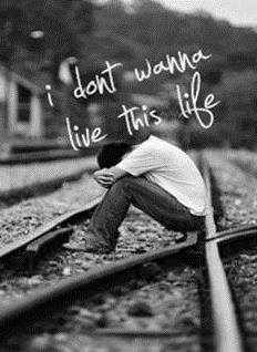 Sad Boy In A Railway Track Facebook Profile Picture